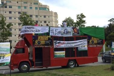Brusquenses se reúnem para manifestação contra a corrupção