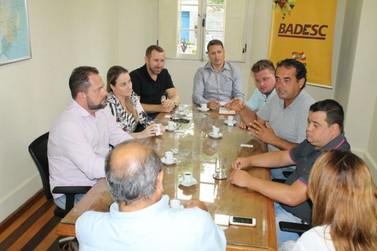 Financiamento do Badesc para obras na Beira Rio leva vereadores à capital