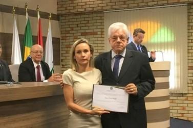 Prefeito, Jonas Paegle, Vice e vereadores são diplomados pela Justiça Eleitoral