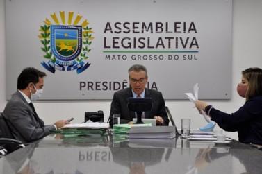 Deputados MS  aprovam protejo prolongar dívida e acertar prestações de contas