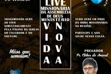 Igreja Assembleia de Deus realiza 2ª Live Missionária nesta sexta feira