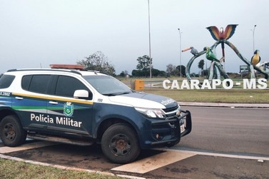 PM  de Caarapó prende autor de furto em supermercado