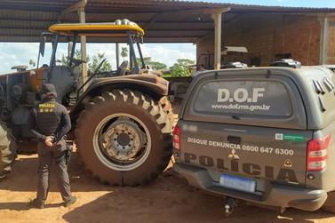 Trator furtado é recuperado pelo DOF durante a Operação Hórus