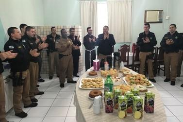 7° BPM realiza café da manhã para homenagear Policiais Militares em Cruzeiro