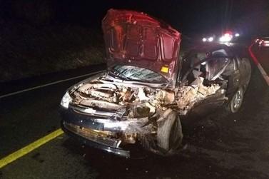 Criança fica ferida em acidente envolvendo três veículos na PR-323