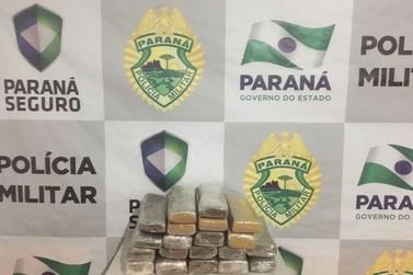Mulher é abordada com drogas em ônibus de linha na PR-323 em Cruzeiro