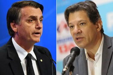 Chance de 2º turno com Bolsonaro e Haddad aumenta significativamente, diz Ibope