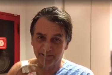 Na primeira transmissão ao vivo do hospital, Bolsonaro critica o PT