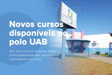 Inscrições abertas para cursos na Polo UAB de Cruzeiro do Oeste