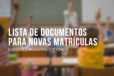 Escolas Municipais e CMEI´s divulgam lista de documentos para matrículas