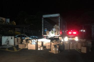 Caminhão carregado de eletrônicos do Paraguai é apreendido na PR-323