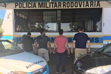 Paranaenses são presos em MS com 745 quilos de maconha