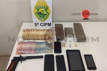 Polícia Militar prende suspeito por tráfico e corrupção de menor em Cianorte