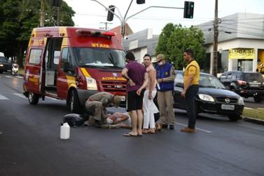 Idosa é atropelada na faixa de pedestre em Umuarama. O condutor fugiu