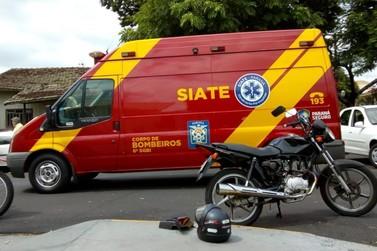 Motociclista fica ferido após batida com veículo em Umuarama
