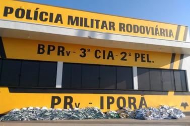 Carga de agrotóxicos contrabandeada é apreendida na rodovia PR-323, em Iporã