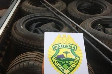 Policiais apreendem veículo carregado com contrabando em Cruzeiro do Oeste