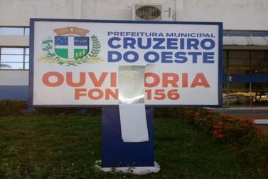 Prédio da Prefeitura de Cruzeiro do Oeste sofre ataque novamente