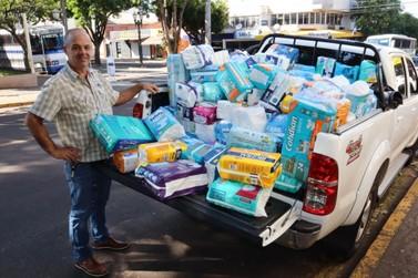 Umuaramense ganha fraldas para doação em vez de presentes no seu aniversário