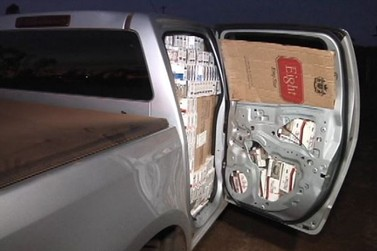 PM de Umuarama apreende caminhonete carregada com cigarros contrabandeados