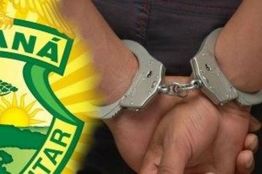 Polícia Militar prende dois homens com mandado de prisão em Mariluz