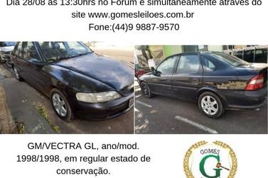 Carros a partir de R$2.100,00 no 2° Leilão da Justiça Estadual de Cruzeiro