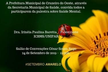 Amanhã palestra gratuita falará sobre Saúde Mental em Cruzeiro do Oeste