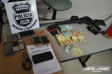 Operação contra o tráfico e homicídios prende 4 pessoas em Umuarama