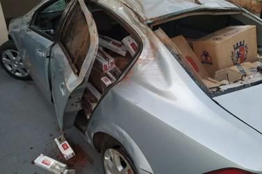 Perseguição resulta em 01 prisão e 03 apreensões de veículos com cigarros