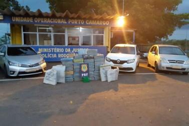 PRF prende seis pessoas com quase meia tonelada de maconha em Alto Paraíso