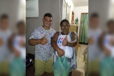 Ex-roupeiro do Umuarama Futsal arrecada alimentos para famílias do Sonho Meu