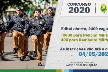 Governo do Estado abre hoje inscrições para concurso da Policia Militar