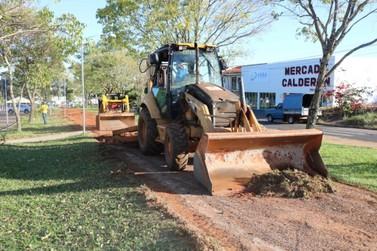 Iniciadas as obras de revitalização da pista de caminhada em Cruzeiro do Oeste