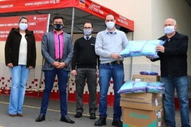Uopeccan recebe 7 mil máscaras produzidas por detentos de penitenciária estadual