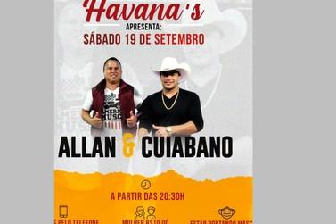 Havana's Pub conta com Show musical neste sábado (19) em Cruzeiro do Oeste