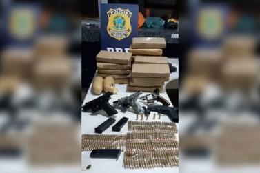 Polícia Rodoviária Federal apreende drogas, armas e munições em Alto Paraíso