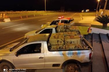 PRE apreende 45 mil maços de cigarros contrabandeados, em Francisco Alves
