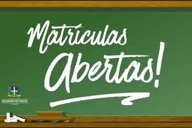 Matrícula da Rede Municipal de Ensino de Cruzeiro do Oeste começa hoje (24)