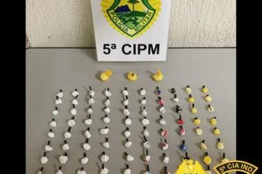 Casal é preso com mais de 100 porções de cocaína em Cianorte