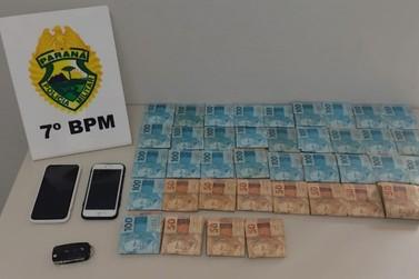 Cerca de R$39.000,00 reais foram apreendidos em Cruzeiro do Oeste