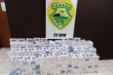 Homens são detidos em Umuarama com carga de celulares avaliada em R$ 1,3 milhão