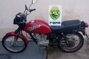 Motocicleta furtada é recuperada nesta quarta-feira (20)