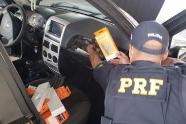 PRF apreende R$ 50 mil em eletrônicos em Guaíra com morador de Umuarama