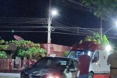 Acidente ocorre na Av. São Paulo e deixa pessoa gravemente ferida
