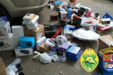 Mercadoria contrabandeada avaliada em R$40.000,00 é apreendida pela polícia