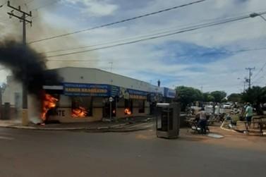 PM do BPRv salva quatro pessoas de incêndio em um restaurante no Noroeste