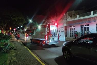 Atropelamento acontece na Av. Brasil de Cruzeiro do Oeste e deixa dois feridos