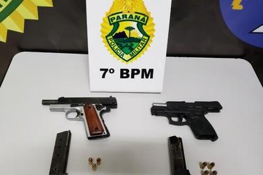 Dois moradores de Cruzeiro do Oeste são presos por porte ilegal de arma