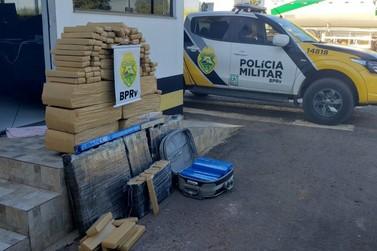 Em Cruzeiro do Oeste, homem é preso transportando 220kg de maconha