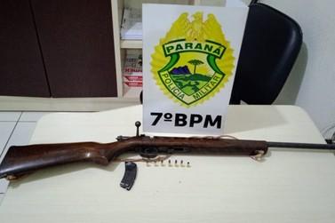 Policiais apreendem armas e munições na madrugada desta sexta